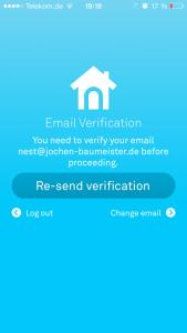 Nest Protect - E-Mail Überprüfung