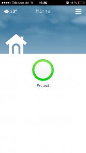 Nest protect - Start screen